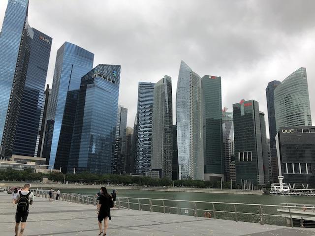 シンガポール金融センター街