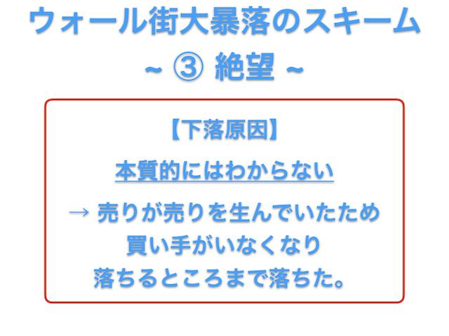 図2. ウォール街大暴落のスキーム ~ ③ 絶望 ~