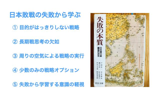 日本敗戦の失敗から学ぶ
